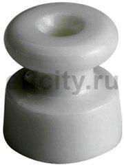 Керамический кабельный изолятор, 19x20 mm, в упаковке 25 штук, белый