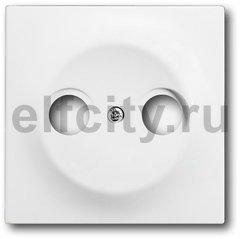 Накладка (центральная плата) для TV-R розетки, серия impuls, цвет белый бархат