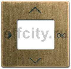 Плата центральная (накладка) для таймера 6455, 6456, серия Династия, Латунь античная