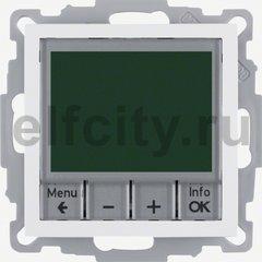 Термостат електронный программируемый, с выносным датчиком, для электрического подогрева пола 230 В~ 8А, пластик белый матовый