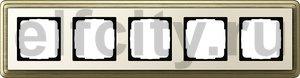 Рамка 5 постов, для горизонтального/вертикального монтажа, бронза/кремовый