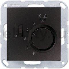 Термостат 230 В~ 10А с выносным датчиком, для электрического подогрева пола, пластик антрацит