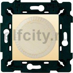 Диммер (светорегулятор) поворотный 40-500 Вт для ламп накаливания и галогенных 220В, white decape/бежевый