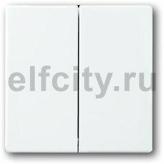Клавиша для механизма 2-клавишных выключателей/переключателей/кнопок, серия solo/future, цвет davos/альпийский белый