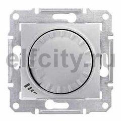 Диммер (светорегулятор) поворотный 60-600 Вт для ламп накаливания и галогенных 220В, алюминий