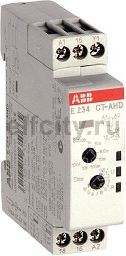 Реле времени CT-AHD.12 модульное (задержка на отключ.) 24-48B DC, 24- 240B AC (7 временных диапазонов 0,05с...100ч) 1ПК
