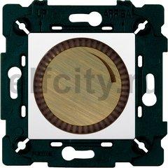 Диммер (светорегулятор) поворотный 40-500 Вт для ламп накаливания и галогенных 220В, бронза матовая/белый