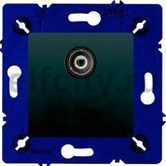 Розетка телевизионная оконечная TV / SAT, один вход, черный