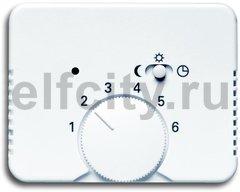 Плата центральная (накладка) для механизма терморегулятора (термостата) 1095 U, 1096 U, серия alpha nea, цвет белый матовый