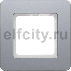 Рамкa, Q.7, 1-местная, алюминий, струйная обработка