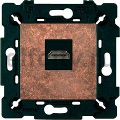 Розетка HDMI, состаренная медь/чорный