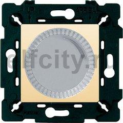 Диммер (светорегулятор) поворотный 40-500 Вт для ламп накаливания и галогенных 220В, светлый хром/бежевый