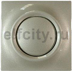 Выключатель, переключатель одноклавишный с подсветкой, (вкл/выкл с 1-го и 2-х мест) 10 А / 250 В, шампань металлик