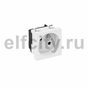 Розетка одинарная 33° франц. стандарт, 250 В, 16A (белый)