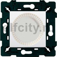 Диммер (светорегулятор) поворотный 40-500 Вт для ламп накаливания и галогенных 220В, белый