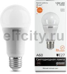 Лампа Gauss LED Elementary A60 12W E27 2700K 1/40
