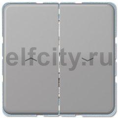 Выключатель управления жалюзи кнопочный, 10 А / 250 В, серый