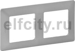 Рамка 2 поста, для горизонтального/вертикального монтажа, алюминий