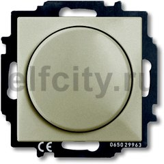 Диммер (светорегулятор) поворотный 60-400 Вт для ламп накаливания и галогенных 220В, шампань