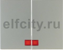 Клавиши с красной линзой цвет: стальной, лак Berker K.5
