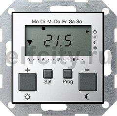 Термостат для электрического подогрева пола 230 В~ 8А , с таймером, функцией охлаждения и выносным датчиком, хром