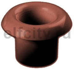 Втулка, для вывода кабеля из стены или потолка, коричневый