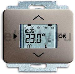 Термостат електронный программируемый, с выносным датчиком, для электрического подогрева пола 230 В~ 8А, палладий