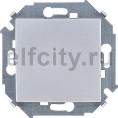 Выключатель одноклавишный, перекресный (вкл/выкл 3-х мест), 10 A / 250 B, алюминий