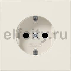 Розетка с заземляющими контактами 16 А / 250 В, автоматические зажимы, слоновая кость