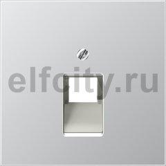 Крышка для ординарной телефонной и компютерной розетки UAE; алюминий