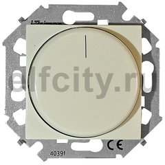 Диммер (светорегулятор) поворотно-нажимной для диммируемых LED ламп 5-215 Вт, 230 В, слоновая кость