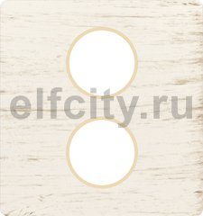 Монтажная плата для механизмов с двумя коннекторами, цвет white decape, беж
