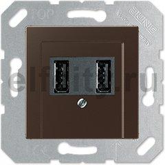 Зарядное USB устройство на два выхода , 2х750 мА / 1х1500 мА, мокко