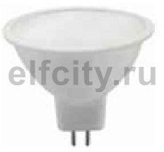 Civilight светодиодная лампа, 5 Вт, 220В, GU5,3, 350Lm, 120^, 3000К (теплый), мат.стекло