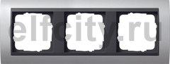 Рамка 3 поста, для горизонтального/вертикального монтажа, алюминий-антрацит