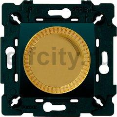 Диммер (светорегулятор) поворотный 40-500 Вт для ламп накаливания и галогенных 220В, светлое золото/черный