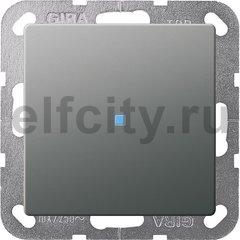 Выключатель одноклавишный с подсветкой, универс. (вкл/выкл с 2-х мест) 10 А / 250 В, нержавеющая сталь