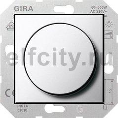Диммер (светорегулятор) поворотный 60-600 Вт для ламп накаливания и галогенных 220В, хром