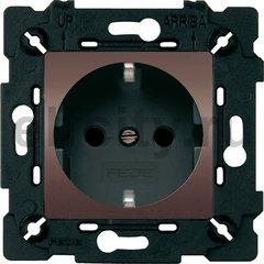 Розетка с заземляющими контактами 16 А / 250 В, графит/черный