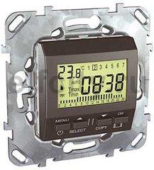 Термостат недельный программируемый, с выносным датчиком для электрического подогрева пола 230 В~ 8А, пластик графит