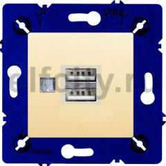 Зарядное устройство USB с двумя выходами, для серии Marco, бежевый