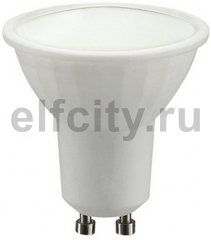 Civilight светодиодная лампа, 5 Вт, 220В, GU10, 450Lm, 108^, 3000К (теплый), мат.стекло