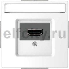 Розетка HDMI, белый лотос