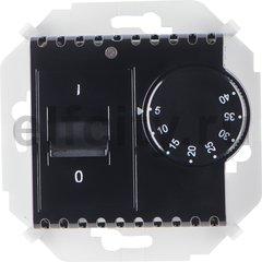 Термостат механический с выносным датчиком, для электрического подогрева пола 230 В~ 8А, черный