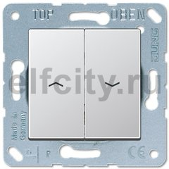 Выключатель управления жалюзи клавишный, 10 А / 250 В, пластик под алюминий