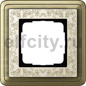 Рамка 1 пост, бронза/кремовый