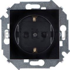 Розетка с заземляющими контактами 16 А / 250 В, черный