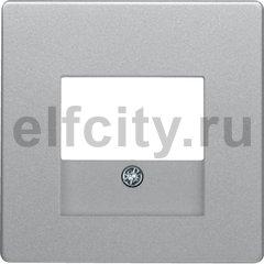 Центральная панель для розетки TAE, Q.1/Q.3, цвет: алюминиевый, с эффектом бархата