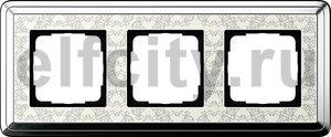 Рамка 3 поста, для горизонтального/вертикального монтажа, хром/кремовый