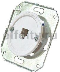 Телефонная розетка для внутреннего монтажа, белый